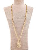 tanie Kwarcowy-Damskie Długie Monogramy Naszyjniki z wisiorkami - Duże Złoty Naszyjniki Biżuteria Na Prezent, Codzienny