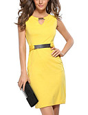 cheap Women's Dresses-Women's Plus Size Going out Slim Bodycon Dress - Solid Colored V Neck