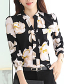 cheap Women's Shirts-Women's Shirt - Floral Crew Neck / Spring