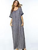 hesapli Kadın Elbiseleri-Kadın's Tunik Elbise Desen Maksi / Kış