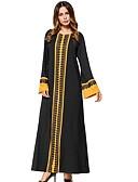 preiswerte Damen Kleider-Damen Swing Kleid Solide Einfarbig Maxi