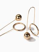 tanie Zegarki luksusowe-Damskie Geometric Shape Kolczyki drop - Europejskie, Moda Złoty / Srebrny Na Impreza Codzienny