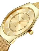 baratos Relógio Elegante-Homens Relógio de Pulso Impermeável / Noctilucente Aço Inoxidável Banda Casual / Fashion Prata / Dourada