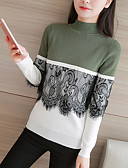 cheap Women's Sweaters-Women's Long Sleeve Pullover - Color Block, Print / Fall / Winter