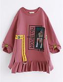 preiswerte Hosen & Leggings für Mädchen-Kinder Mädchen Aktiv Wort / Satz Langarm Kleid / Baumwolle