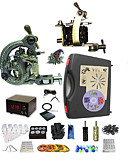 tanie Zegarki mechaniczne-BaseKey Maszynka do tatuażu Profesjonalny zestaw do tatuażu - 2 pcs Maszyna do tatuowania, Profesjonalny / a Etui w komplecie 1 x stalowa maszyna tatuaż na podszewki i cieniowania / 1 x stop maszyna