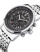 ieftine Eșarfe la Modă-MEGIR Bărbați Ceas de Mână Calendar / Cool Oțel inoxidabil Bandă Casual / Modă