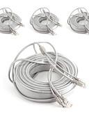 preiswerte Herren Blazer & Anzüge-Kabel 4PCS 99ft CCTV RJ45 Video Network Cable DC Power Camera Extension für Sicherheit Systeme 3000cm 2.7kg