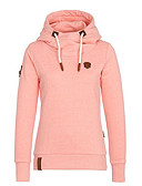 cheap Women's Dresses-Women's Street chic Hoodie - Solid Colored / Fall / Winter