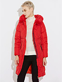 cheap Women's Down & Parkas-Women's Regular Padded Coat,Street chic Going out Solid-Others Polypropylene Long Sleeves