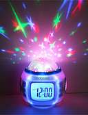 cheap Quartz Watches-1pc Music Alarm Clock Sky Projector NightLight Colorful AAA Batteries Powered For Children / Color-Changing / Birthday Battery