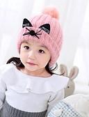 tanie Dziecięce Kapelusze i czapki-Dzieci Dla dziewczynek Sweter Kapelusze i czapki Rumiany róż / Beżowy Jeden rozmiar