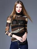 baratos Tops Femininos-Mulheres Camiseta Vintage / Moda de Rua Geométrica Gola Alta