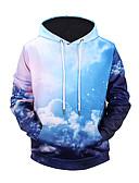 cheap Men's Hoodies & Sweatshirts-Men's Active Street chic Long Sleeves Hoodie - Color Block 3D Print Hooded