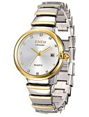 cheap Quartz Watches-Women's Wrist Watch Quartz Water Resistant / Water Proof Calendar / date / day Chronograph Stainless Steel Band Analog Casual Fashion Elegant Silver / Gold / Rose Gold - Silver Rose Gold Gold / White