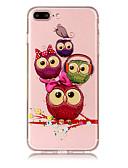 billige Slips og butterfly-Etui Til Apple iPhone X / iPhone 8 Plus Transparent / Mønster Bagcover Ugle Blødt TPU for iPhone X / iPhone 8 Plus / iPhone 8