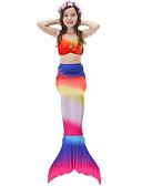 זול טישרטים לגופיות לגברים-בנות חמוד פעיל דפוס בגדי ים, כותנה פוליאסטר ללא שרוולים אודם