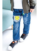 preiswerte Hosen für Jungen-Jungen Hose Solide Cartoon Design Baumwolle Polyester Frühling Herbst Einfach Blau