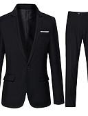זול בלייזרים וחליפות לגברים-אחיד חליפות - בגדי ריקוד גברים כותנה