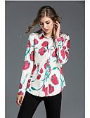 preiswerte Hemd-Damen Blumen - Freizeit Hemd, Hemdkragen / Seide / Blumenmuster