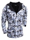 זול מעילי פוך ופרקה לגברים-להסוות מרופד ארוך ספורט בגדי ריקוד גברים
