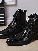 ieftine Jachete-Unisex Fashion Boots Nappa Leather Toamnă / Iarnă Cizme Cizme / Cizme la Gleznă Negru / Party & Seară