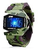 זול שעוני ילדים-SKMEI לזוג שעוני ספורט דיגיטלי 50 m עמיד במים לוח שנה זוהר בחושך סגסוגת להקה דיגיטלי פאר יום יומי אופנתי לבן / אפור / ורוד - ירוק כחול ורוד