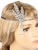 cheap Historical & Vintage Costumes-The Great Gatsby Flapper Headband Pendant / 1920s Black / Silver / Golden Rhinestone / Chrome Cosplay Accessories Masquerade Costumes