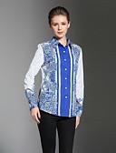 cheap Women's Tops-SHE IN SUN Women's Work Chinoiserie Shirt Print Shirt Collar
