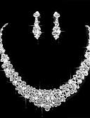 olcso Menyasszonyi ruhák-Női Kocka cirkónia Ékszer szett - Egyszerű tartalmaz Ezüst Kompatibilitás Esküvő Parti