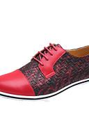 povoljno Muške košulje-Muškarci Cipele za noviteti Mikrovlakana Proljeće / Jesen Ležerne prilike Oksfordice Bijela / Crvena / Plava