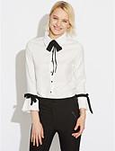 billige Skjorter til damer-Peter Pan-krage Bluse Dame - Ensfarget