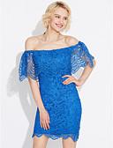 tanie Casualowe sukienki-Damskie Kij Moda miejska Bodycon Sukienka - Solidne kolory, Koronka / Odkryte plecy Łódeczka Mini
