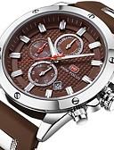 ieftine Ceasuri de Lux-Bărbați Ceas de Mână Japoneză Rezistent la Apă Calendar Cronograf Piele Autentică Bandă Analog Lux Casual Modă Negru / Albastru / Maro - Negru Maro Albastru Doi ani Durată de Viaţă Baterie / Iluminat