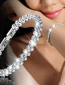 povoljno Vjenčanice-Žene Kubični Zirconia Teniski lanac Gipke i čvrste narukvice - Poslastica, Korejski, Moda Narukvice Pink Za Dar / Spoj