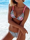 cheap Bikinis-Women's Sophisticated Strap Black Bikini Swimwear - Solid Colored Polka Dot Floral Print S M L Black