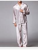 baratos Pólos Masculinas-Homens Conjunto Pijamas-Fashion,Sólido