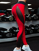 baratos Calças Femininas-Mulheres Esportivo Legging - Estampa Colorida, Estampado Bordado Cintura Alta