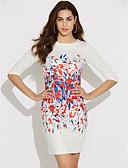 ieftine Curele la Modă-Pentru femei Șic Stradă Pantaloni - Floral Alb / Muncă