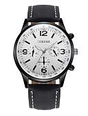 baratos Relógio Elegante-Homens Relógio de Pulso Chinês Impermeável Couro Banda Casual / Fashion Preta / Marrom