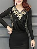 ieftine Bluză-Pentru femei În V Tricou Ieșire Bumbac Boho - Floral Decupată