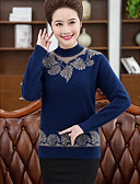 cheap Women's Blouses-Women's Going out Long Sleeve Pullover - Solid Colored / Spring