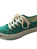 preiswerte Hübsche sexy Damenkleidung-Damen Schuhe Stoff Frühling Komfort Sneakers Flacher Absatz Runde Zehe Schwarz / Rot / Grün