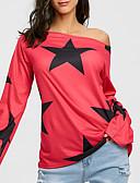 preiswerte T-Shirt-Damen Geometrisch - Street Schick / Punk & Gothic Ausgehen Baumwolle T-shirt, Bateau Druck