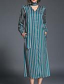 tanie Sukienki-Damskie Vintage Spodnie - Geometric Shape Nadruk Zielony / W serek