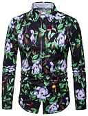 זול סוודרים וקרדיגנים לגברים-פרחוני גיאומטרי כותנה, חולצה - בגדי ריקוד גברים