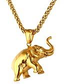 זול כובעים אופנתיים-בגדי ריקוד גברים / בגדי ריקוד נשים שרשראות תליון - פלדת על חלד פיל, חיה זהב, כסף שרשראות 1 עבור יומי, טקס