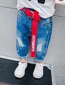 preiswerte Hosen & Leggings für Mädchen-Kinder Jungen Einfach / Retro Solide Wolle / Baumwolle / Bambusfaser Jeans