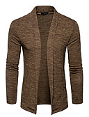 cheap Men's Sweaters & Cardigans-Men's Weekend Long Sleeve Cardigan - Solid Colored Shirt Collar
