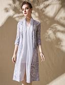 זול שמלות נשים-אחיד טלאים - שמלה סווינג בוהו בגדי ריקוד נשים